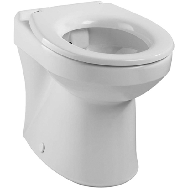 Twyford Sola Rimless Back To Wall Horizontal Outlet Pan White
