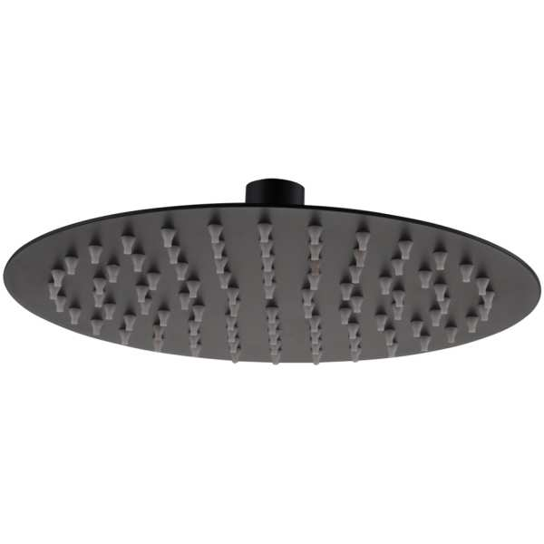 Ultra Slim Shower Head Round 250mm Black