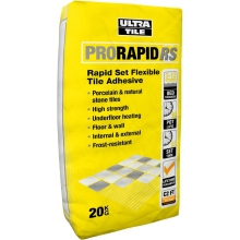 Ultra Tile 20kg ProRapid RS Porcelain Adhesive Grey
