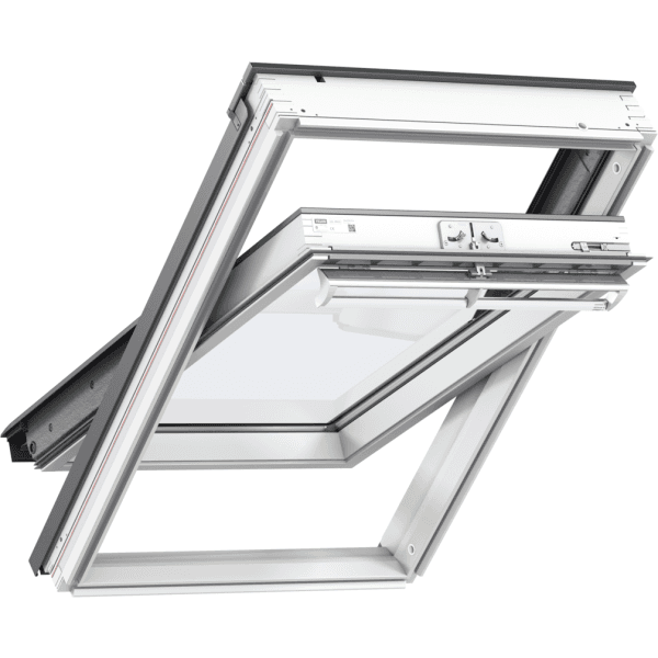 Velux Centre Pivot Roof Window White Painted 94 x 98cm GGL PK04 2070