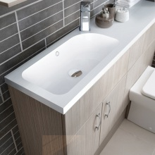Vio Mineralcast Basin and Worktop Right Hand 1210 x 300 x 28mm
