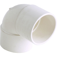 Hunter S/Weld Knuckle Bend 90Deg W117 40mm White