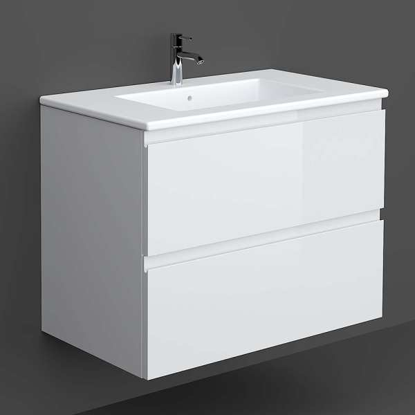Wall Hung Vanity 80cm Pure White
