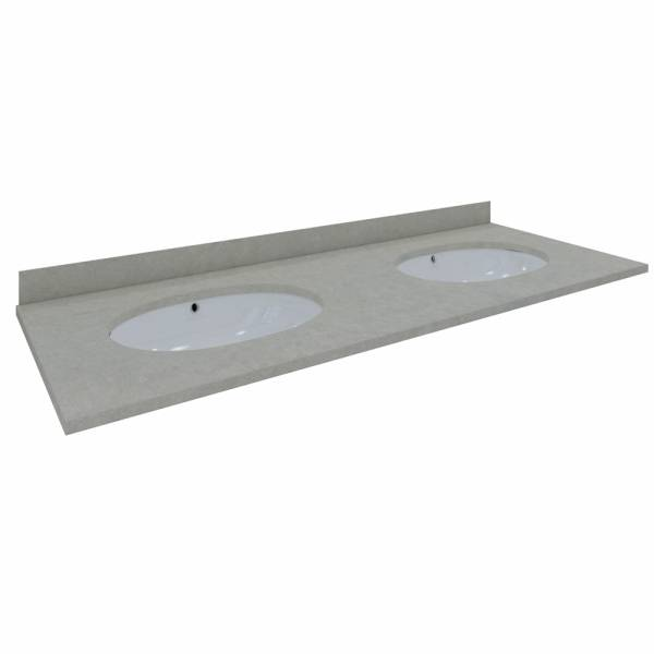 Washington Counter & Backsplash 1200mm 1Tap Hole Grey