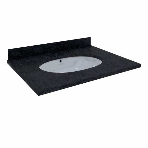 Washington Counter & Backsplash 600mm 1Tap Hole Black
