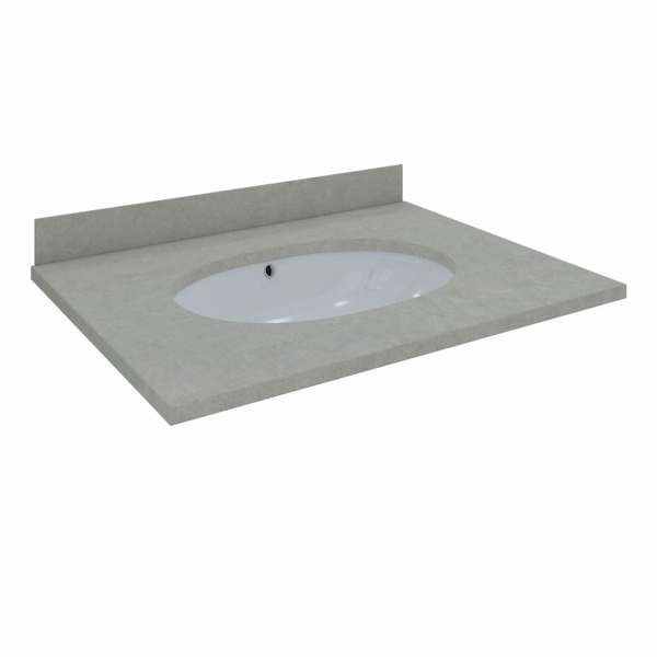 Washington Counter & Backsplash 600mm 1Tap Hole Grey