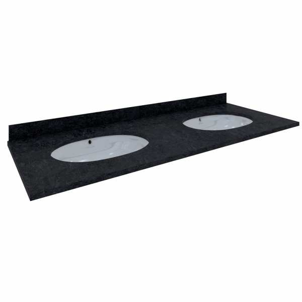 Washington Countertop 820mm 3Tap Hole Black
