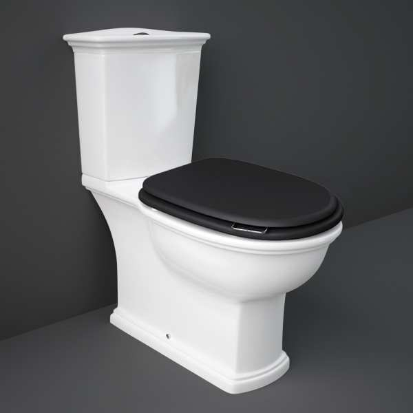 Washington F-A Pack and Cistern S-C Wood Toilet Seat M-Black