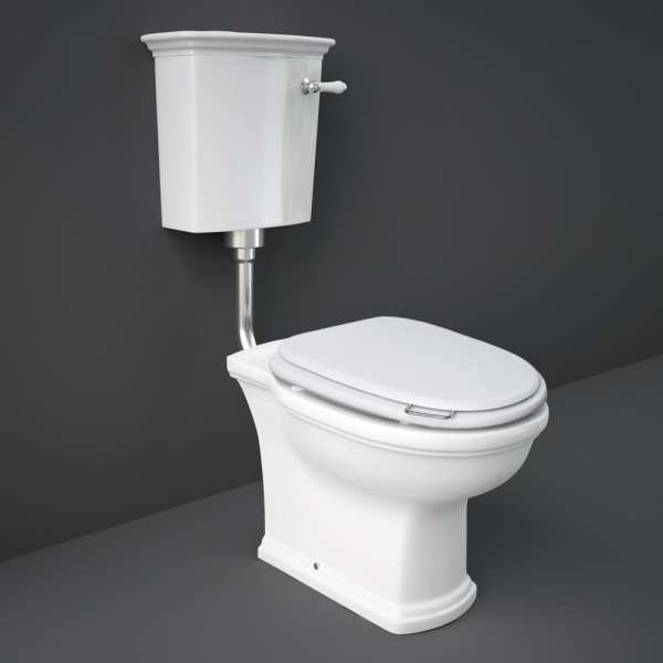 Washington Low Level Pack and S-C Wood Toilet Seat M-White