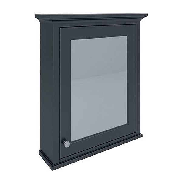 Washington Mirror Cabinet 600mm 650x750 Black