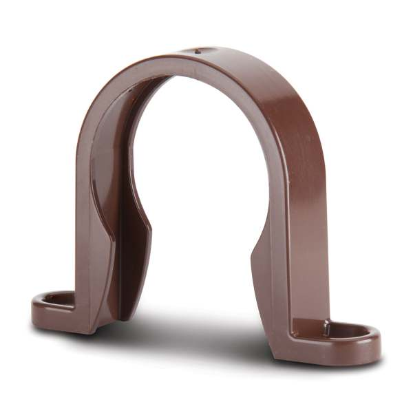 Waste ABS Pipe Clip Brown 40mm