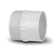 Waste Male Iron Adaptor White 40mm