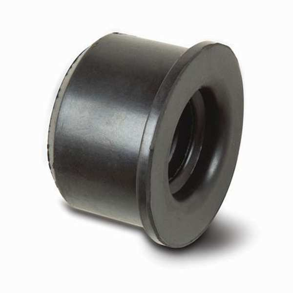 Waste Pipe Rubber Reducer 40mm Black