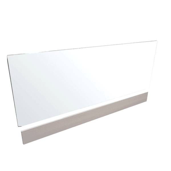 Vio Bath Side Panel 1700mm Eden White Gloss