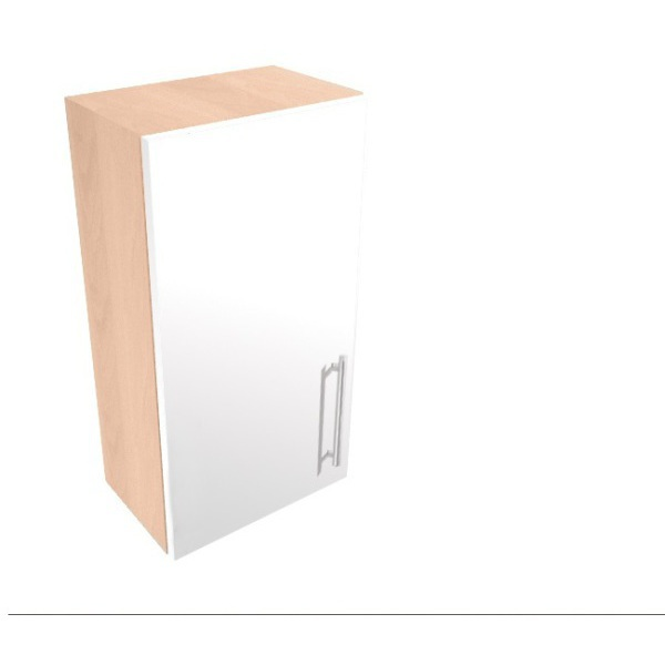 Vio Single Door Wall Unit 300 x 175 x 660mm Eden White Gloss Cashmere