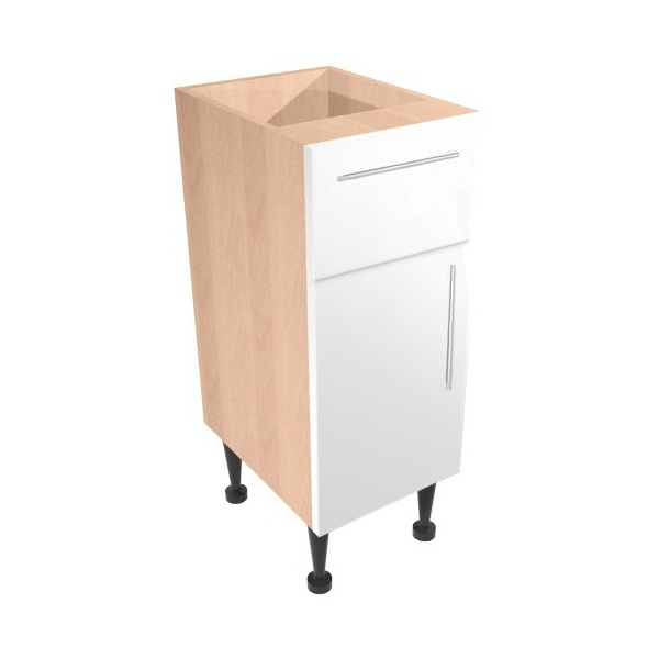 Vio Drawer Line Unit 300 x 290 x 835mm Eden White Gloss Natural Oak