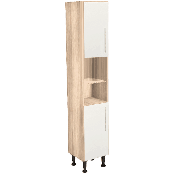 Vio Tall Unit 300 x 290 x 835mm Source White Gloss Natural Oak