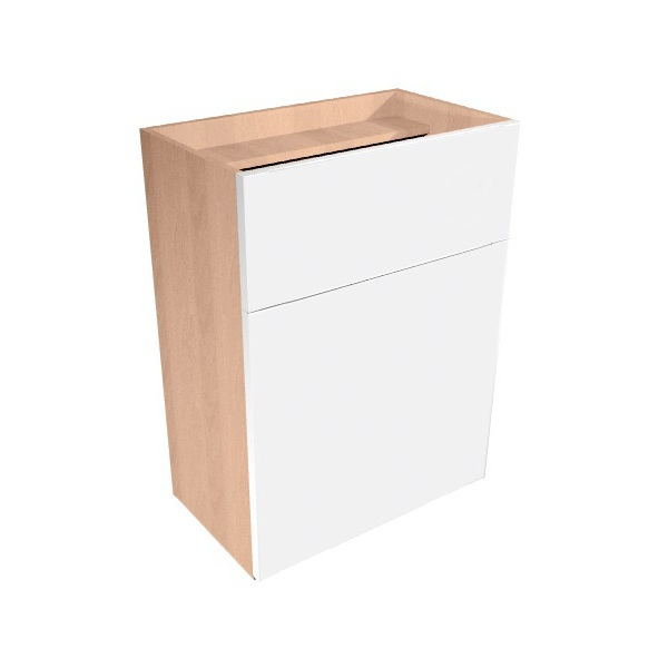 Vio Full Height Toilet Unit 500 x 290 x 835mm Eden White Gloss Natural Oak