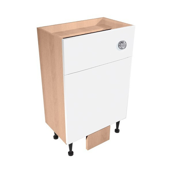 Vio Back to Wall Toilet Unit inc. Cistern 500 x 200 x 835mm Eden White Gloss Natural Oak