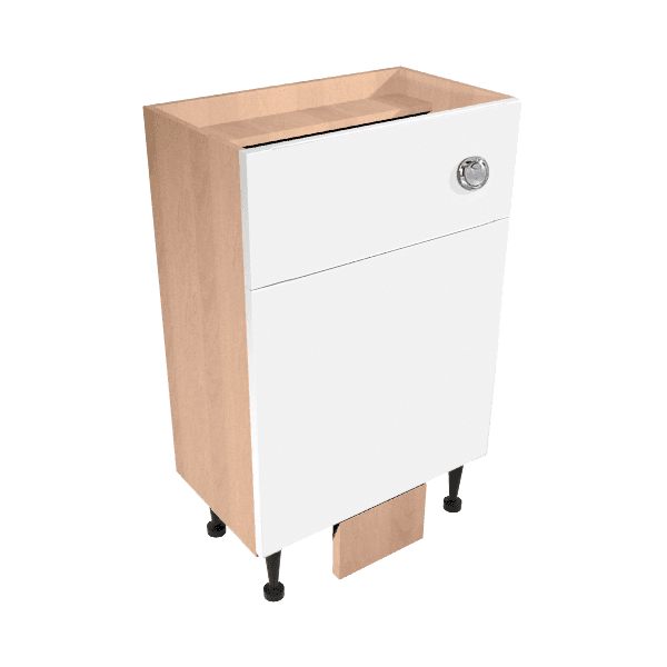 Vio Back to Wall Toilet Unit inc. Cistern 500 x 290 x 835mm Source White Gloss Natural Oak