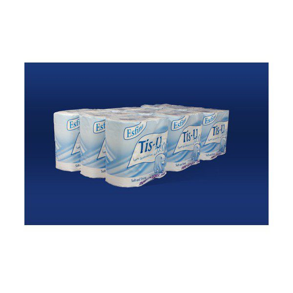 White Toilet Roll 2 Ply (Pack 4)