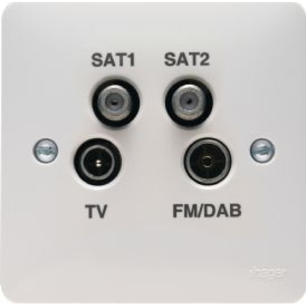 WMQX Hager Sollysta Quadplexer TV Outlet