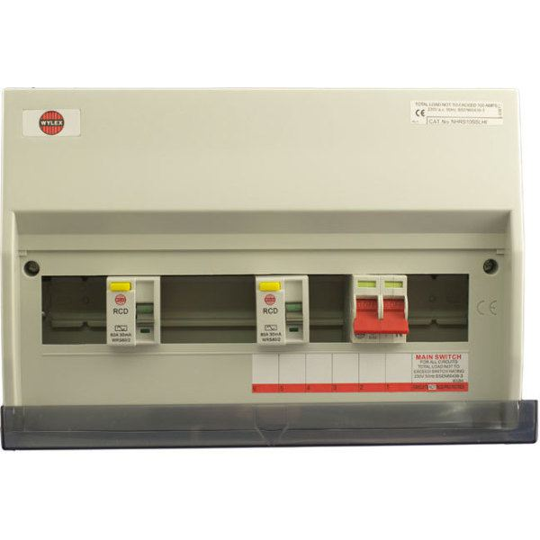 Wylex Consumer Unit RCD Flexible High Integrity NHRS10SSLHI  10 Way