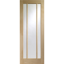 XL Joinery Worcester 3 Light Oak Veneer Clear Glass Door